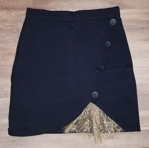 Painted Threads Navy Skirt NWT small